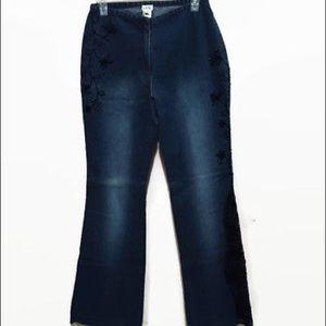 Cache Women's Size 6 Novelty Denim Jeans